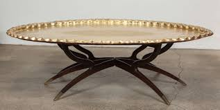 brass tray coffee table on spider legs at 1stdibs