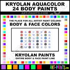 aqua aquacolor 24 body face paints kry 1108 aqua paint aqua