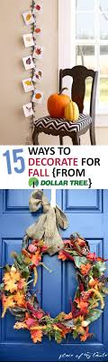 15 ways to decorate for fall from dollar tree