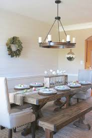 Battery Table L L Dining Room Farmhouse Table Ls Chandelier Lights