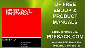 asme section viii division 2 example problem manual video