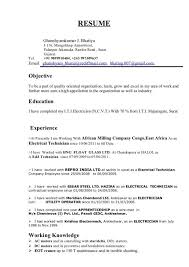 electrical resumes resume cv cover letter