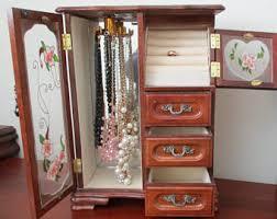 jewelry cabinet etsy