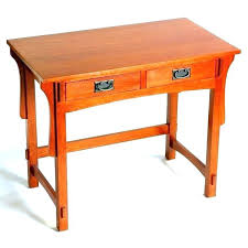Small Wood Writing Desk Mission Style Solid Oak Office Computer Size Of Desk Wood
