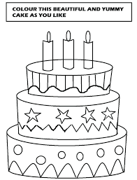 Birthday Cake Coloring Page Free Printable Joomla Birthday Cake Coloring Pages