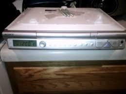 Kitchen Under Cabinet Radio Cd Player Sony Icf Cd543rm Kitchen Cd Clock Radio Silver Demo Youtube