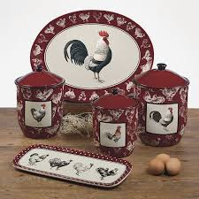 rooster canisters kitchen products chicken canisters certified international dinnerware rooster