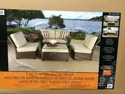 Sunbrella Outdoor Cushions Costco Oak Valley 5 Pc Woven Modular Sectional U2013 Costcochaser