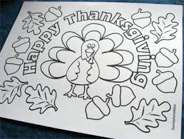 printable thanksgiving coloring placemats u2013 happy thanksgiving