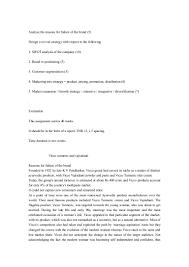 vicco failure a detailed analysis