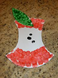 paper plate apple core fun family crafts