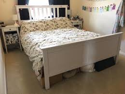 beautiful king size ikea hemnes bed frame and hamarvik mattress