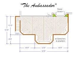 Front Porch Deck Designs Arched Bridge Plan Log Home Plans Log - Backyard deck designs plans