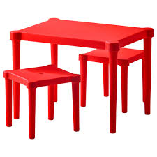childrens table and stools love this red children s table with 2 stools from ikea perfect to