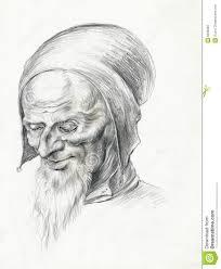 old man 6 drawing sketch stock photos image 6596903