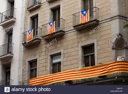 Flag Of Catalonia Flag Of Catalonia Called Estelada Catalan Flags On A Building