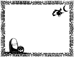 Halloween Invitation Borders by Halloween Border Clipart Black And White Clipartsgram Com