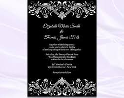blank black and white wedding invitations templates black and