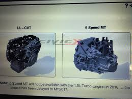 manual 1 5t delayed until 2017 model year 2016 honda civic