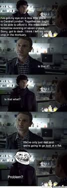 Funny Sherlock Memes - sherlock troll sherlock benedict cumberbatch sherlock and baker