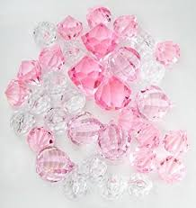 gems for table decorations amazon com translucent clear pink assorted shaped acrylic gems