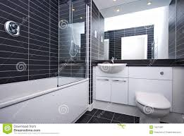 Black And White Modern Bathroom by Modern New Bathroom In Black And White Stock Photo Image 14671680