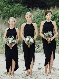 black bridesmaid dresses simple black side slit bridesmaid dresses cheap unique