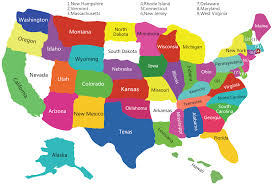 us map of states world map