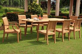 of late teak outdoor dining table outdoor furniture brisbane