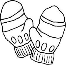 mitten coloring page for winter winter coloring pages of