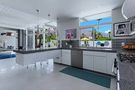 Grey And Turquoise Kitchen by A Look At The Renovated Laverne 2 In Palm Springs California