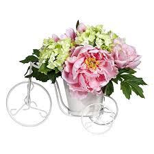 peony and hydrangea tricycle silk flower arrangement free