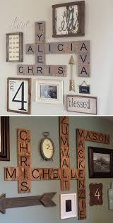 designs letter wall decor in conjunction with letter