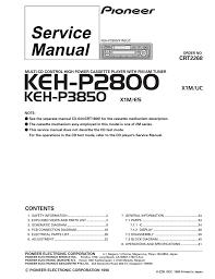 pioneer keh p2800 cassette player pioneer 20keh