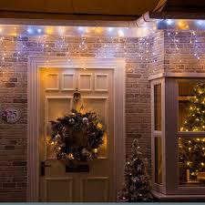 warm white led christmas lights icicle lights christmas trees and lights