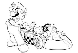 mario kart coloring pages coloring