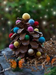 colorful wool felt pine cone christmas tree www themagiconions