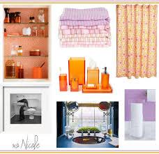 funky orange bathroom accessories bathroom accessories