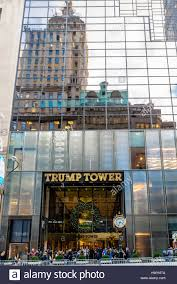 facade of the trump tower residence of president elect donald