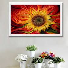 online buy wholesale sunflower room decor from china sunflower beautiful sunflower home living room decorative painting diy 5d full resin diamond embroidery painting cross stitch