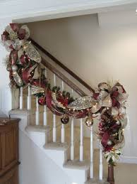 How To Decorate Banister With Garland Christmas Garlands With Lights For Stairs U2013 Happy Holidays