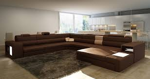 Chocolate Brown Sectional Sofa With Chaise Stunning Modern Brown Leather Sectional Ideas Liltigertoo