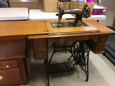 Antique Singer Sewing Machine And Cabinet Singer Treadle Cabinet Sewing Pre 1930 Ebay