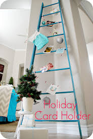 make a diy holiday ladder display cards or advent calendars
