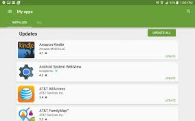 my android apps how do i update apps on my android tablet ask dave