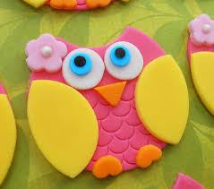 edible cake decorations pink and yellow owl edible cupcake toppers