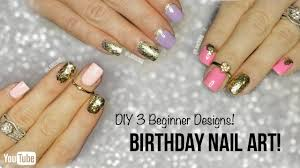 diy cute u0026 easy nail art for beginners 3 birthday nail polish
