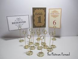table number card holders antique gold ring style table number stand card holder wedding