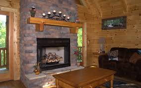 Decorating Living Room With Stone Fireplace Homey Wooden Living Room With Appealing Stone Fireplace Mantels