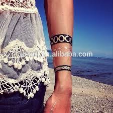 water transfer printing golden bracelets to cover wrist tattoo